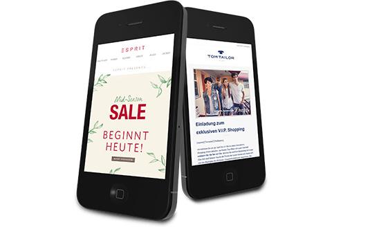 web smartphone newsletter