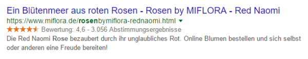rich snippets rose